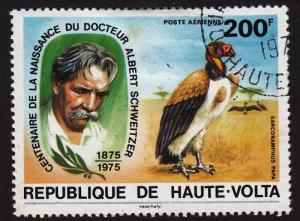 Burkina Faso C214 Schweitzer and King Vulture 1975