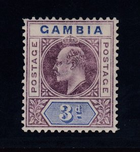 Gambia, SG 61 var, MHR Slotted Frame variety
