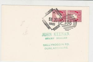 ireland dublin 1963 postal history special cancel stamps card ref 20340