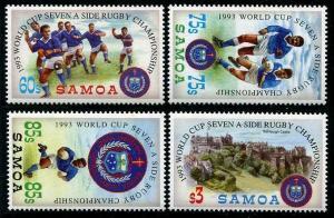 HERRICKSTAMP SAMOA Sc.# 823-26 World Cup Rugby Champ