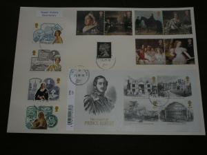 2019 GB QUEEN VICTORIA BICENTENARY FDC STAMPS & MINISHEET VICTORIA PARK Cancels