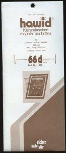 Hawid Mounts,66(h) x 210(l), (210x66), Black - 10 strips.