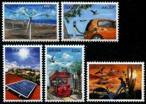 HERRICKSTAMP NEW ISSUES ARUBA Sc.# 615-19 Sustainable Energy