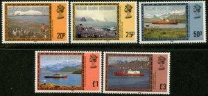 FALKLAND DEP. Sc#1L48a-1L52a 1985 New Watermark Complete Set Mint NH