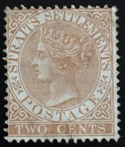 Malaya Straits Settlements 1868 QV 2c MH wmk Crown CC SG#11 CV£60 MA1491