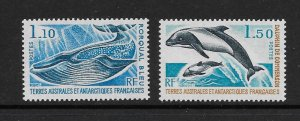 WHALES -  FRENCH SOUTHERN  ANTARCTIC TERRITORIES #67-8    MNH