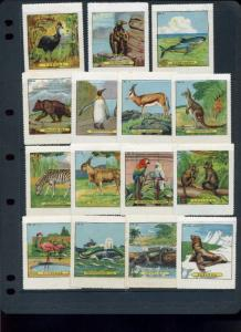 69 VINTAGE WENTZ ANIMAL POSTER STAMPS (L1015) LARGE ACCUMULATION OFFERED INTACT!