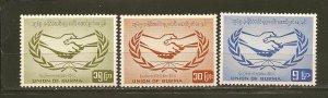 Burma 190-192 ICY Emblem Set of 3 MNH