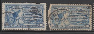 U.S. Scott #E8 Special Delivery Stamp - Used Set of 2