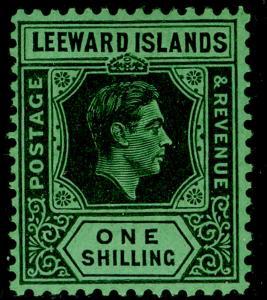 LEEWARD ISLANDS SG110, 1s black/emerald, LH MINT. Cat £16. ©