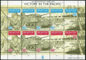 Tonga-Niuafo'ou 179-180 ae sheet,MNH. WW II,Victory in the Pacific,1995.