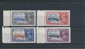 British Virgin Is 1935 Silver Jubilee set of four MNH SG 103/106 Cat £25