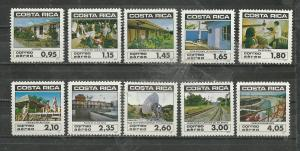 Costa Rica Scott catalogue #C862-C871 Unused HR