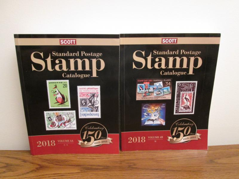 Scott 2018 Stamp Catalog Volume 4 A and B (photos of actual books for sale)