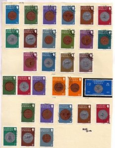 Guernsey,1979-1980 Sc 173-188,202 Used A Complete Set(30) Baldwick Issues F-VF