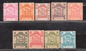 **North Borneo, SC# 35-43 MH VF Complete Set, CV $96.00 A few are reprints