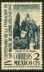 MEXICO 781, 2¢ San Miguel de Allende 400th Anniv Unused NO GUM. VF.