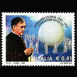ITALY 2002 - Scott# 2474 Blessed Escriva Set of 1 NH