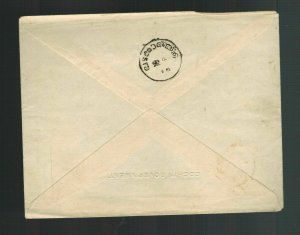 1900s Cochin India Postal Stationery Government cover Star of David Judaica