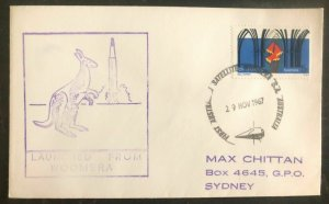 1967 Woomera Australia Rocket Mail First Day Cover FDC To Sydney Satellite Launc