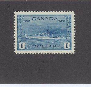 CANADA (KSG1439) # 262  VF-MNH $1 RCN TRIBAL CLASS DESTROYER /DEEP BLUE CV $120