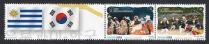 Korea Uruguay diplomatic Dance music Candombe negro Gugak Flags emblems Fan