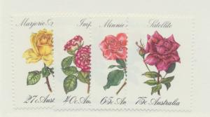 Australia Scott #826 To 829, Roses Issue From 1982 - Free U.S. Shipping, Free...