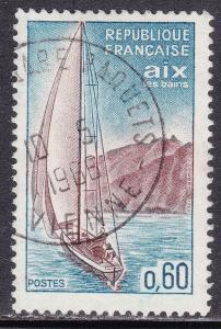 France 1127 USED 1965 Sailboat Near Aix-les-Bains