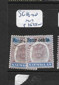 MALAYA NEGRI SEMBILAN     (PP2305B)     4C SURCHARGES TIGER  SG 19-20    MOG