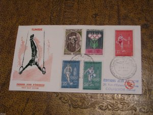 Tunisia 1960 Olympics Cover FDC See Scan
