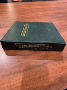 Lot of 7 American Heirloom Collection Stamp Album Empty Binders Great Shape