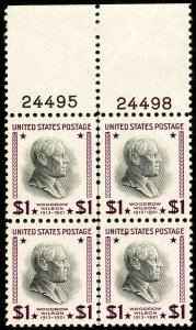 US Stamps # 832 MNH XF Plate Block of 4