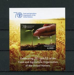 Tanzania Stamps 2015 MNH Food & Agriculture Org United Nations UN FAO 1v S/S