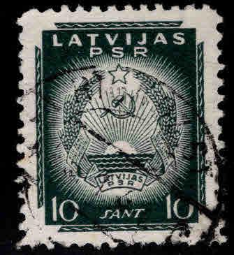 Latvia Scott 2N50 Used