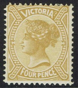 VICTORIA 1901 QV NO POSTAGE 4D