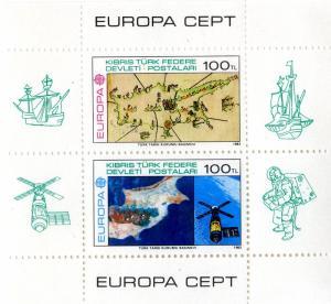 TURKEY/NORTH CYPRUS  27 MNH S/S SCV $60.00 BIN $30.00 EUROPA