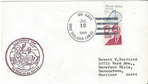 US Naval Cover USS Vulcan AR 5  1984