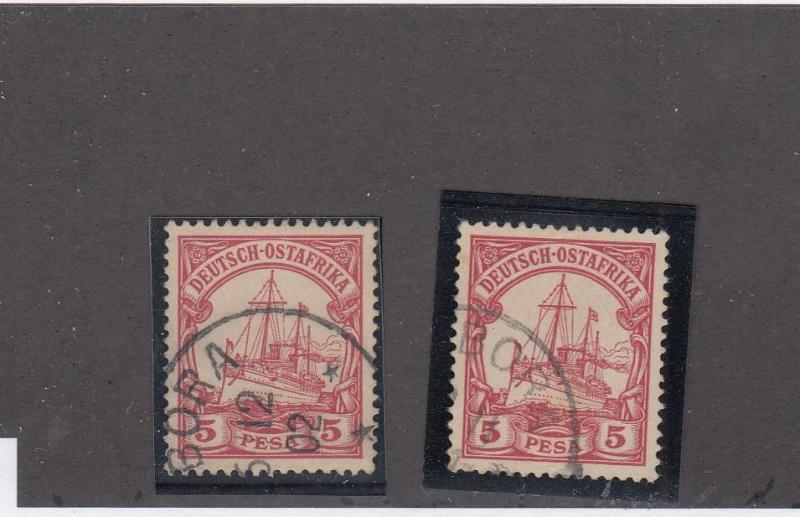 GERMAN EAST AFRICA LOT # 13 x 2 -VF-TABORA TOWN CANCELS COLLECTED FOR PMKS