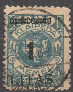 Memel #N59  F-VF Used  CV $75.00  (K1121)