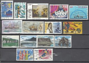 COLLECTION LOT # 2530 ICELAND 15 STAMPS 1990+ CV+$18
