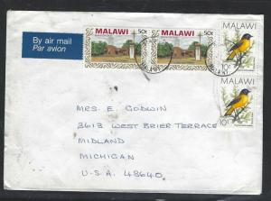 MALAWI  (PP2101B)  BIRD 10T PR+CHRISTAS 50T PR TO USA
