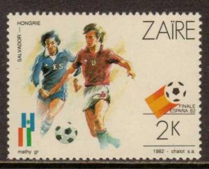 Zaire   #1058  MLH  (1982)