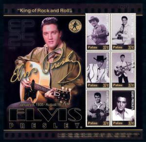 [95106] Palau 2002 Music Elvis Presley Rock and Roll Sheet MNH