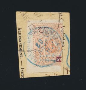 OBOCK FRENCH COLS 1901, 20c BISECT ON PIECE CAT$325 (SEE BELOW)