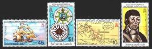 Solomon Islands. 1981. 430-33. Francisco Morell, cards, sailboat. MNH.