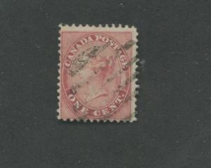 Queen Victoria 1859 Canada 1c Postage Rose Stamp #14 Scott Value $90