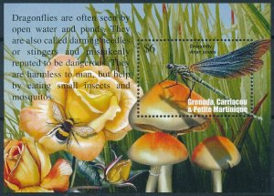 [108925] Carriacou & Petite Martinique 2002 Insects dragonfly bee Sheet MNH