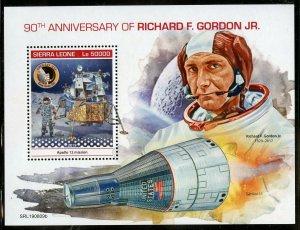 SIERRA  LEONE  2019 90th BIRTH OF RICHARD F. GORDON JR. SOUVENIR SHEET MINT NH