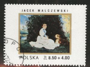Poland Scott B126 used 1972 art stamp