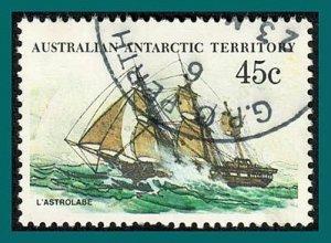 AAT 1981 Ships, La Astrolabe, used #L49,SG49